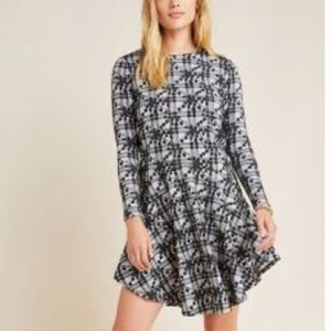 Anthropologie Jeanine Embroidered Plaid Tunic